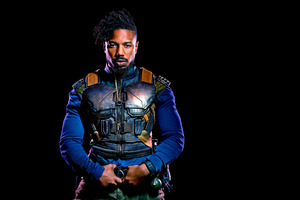 Michael B Jordan As Erik Killmonger In Black Panther 2018