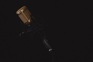 Microphone Dark Background 4k 5k Wallpaper
