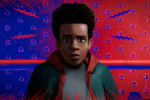 Miles Morales In Spider Man Into The Spider Verse Movie