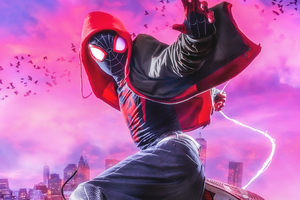 Miles Morales Spiderman Cosplay 4k Wallpaper