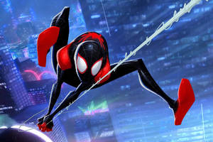 Miles Morales SpiderMan Into The Spider Verse Wallpaper