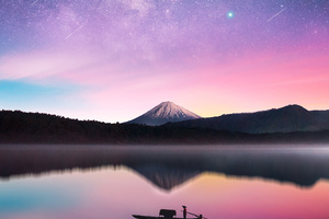 Milky Way Mount Fuji Wallpaper