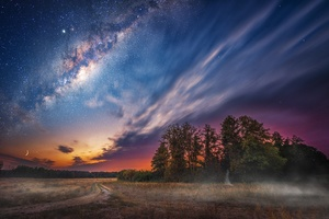 Milky Way Night Sky Stars Wallpaper