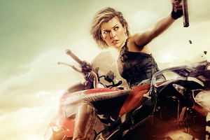 Milla Jovovich In Resident Evil The Final Chapter Wallpaper