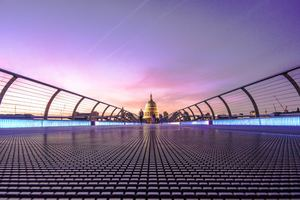 Millennium Bridge London 5k Wallpaper