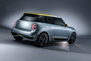 Mini Cooper Electric Concept 2017 Rear Wallpaper
