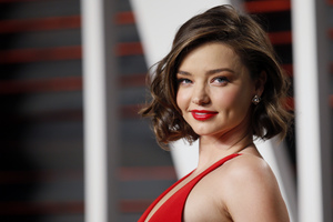 Miranda Kerr Red Dress Wallpaper