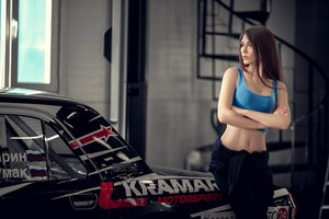 Model With Car Wallpaper