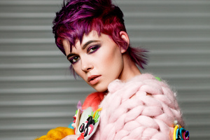 Model With Cerise Pink Hair Wallpaper