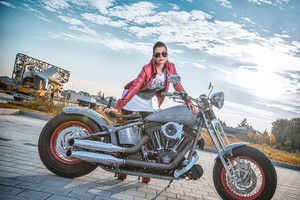 Model With Harley Davidson