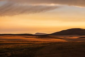 Montana Prairie Montana Plain Evening Light Fuji Color Montana Sunset Wallpaper
