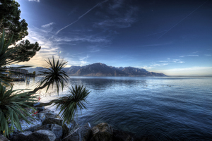 Montreux Lake Switzerland 4k Wallpaper