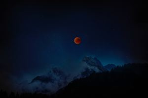 Moon Eclipse 8k Wallpaper