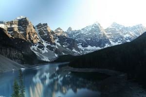 Moraine Lake Canada Reflections 5k Wallpaper