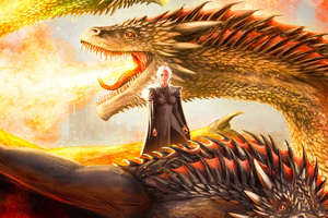 Mother Of Dragons Artwork Wallpaper