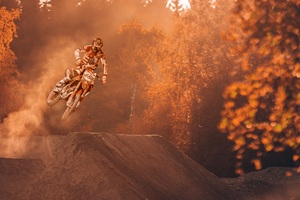 Motorcycle Stunter Dirt Bike Extreme Wallpaper