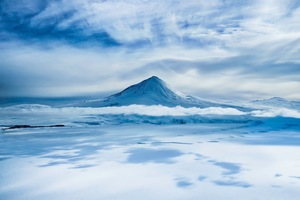 Mount Erebus on Antarctica