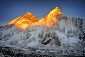 Mount Everest Sunset 4k Wallpaper