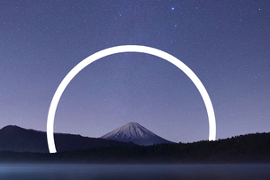 Mount Fuji Abstract Vs Nature Wallpaper