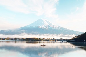 Mount Fuji Blue Bright Day 4k Wallpaper