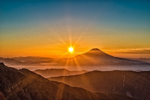 Mount Fuji Morning Sun Rising 8k