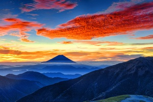 Mount Fuji Panaromic 8k Wallpaper
