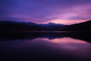 Mountain Lake Night Reflection 5k Wallpaper