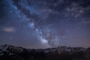 Mountains Night Sky