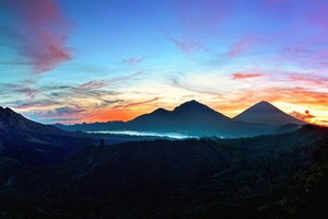 Mountains Sky Bali Sunrise