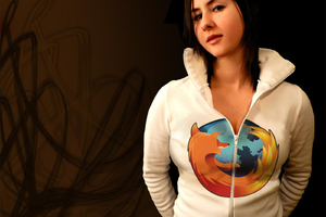 Mozilla Firefox Girl Wallpaper