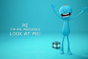 Mr Meeseeks Wallpaper