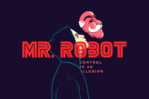 Mr Robot Illustration Fan Art Wallpaper