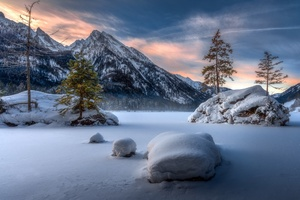 Nature Landscape Winter Snow Wallpaper