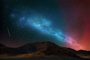 Nature Scenery Colorful Stars Space Wallpaper