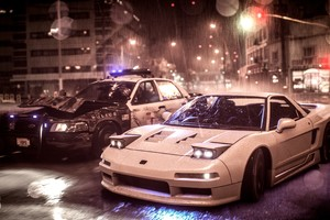 Need For Speed Acura Nsx Vs Police Car 4k Wallpaper