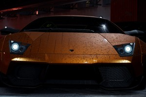 Need For Speed Orange Lamborghini