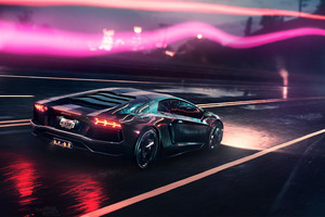 Neon Demon Lamborghini Wallpaper