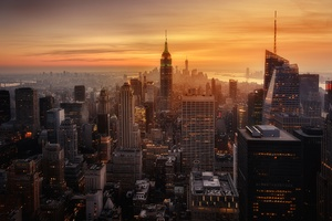 New York City Evening Time Wallpaper