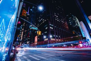 New York City Street Long Exposure Wallpaper
