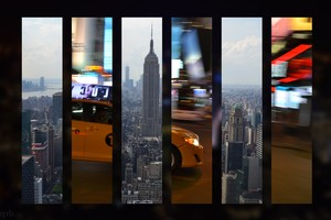 New York City Taxi Skyline Wallpaper