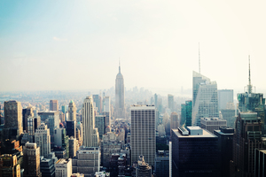 New York Empire Street Building Wallpaper