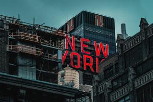 New York Logo Glowing 4k Wallpaper