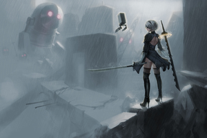 Nier Automata 5k Wallpaper