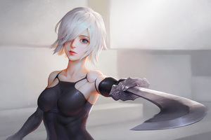 Nier Automata Artwork HD Wallpaper