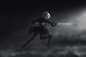 Nier Automata Cosplay Wallpaper