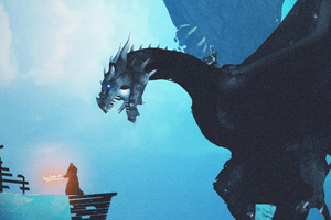 Night King Dragon Vs Lord Of Light Wallpaper