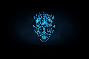 Night King Minimalist Logo 4k Wallpaper