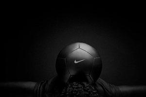 Nike Black Play Football Wallpaper