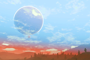 No Mans Sky Big And Small Moon 4k Wallpaper