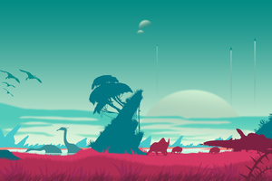 No Mans Sky Vector Landscape 4k Wallpaper